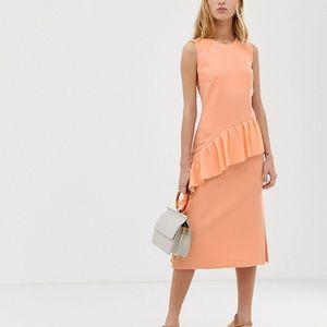 NWT Warehouse Frill Midi Dress